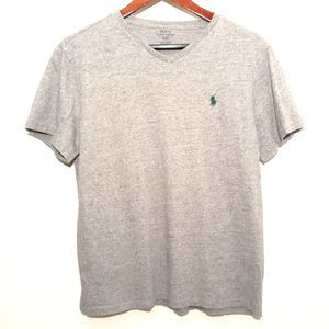 Polo Ralph Lauren gray short sleeve v-neck t-shirt